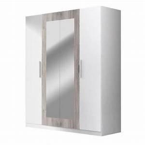 Armoire Blanche Miroir : armoire blanche avec miroir achat vente armoire blanche avec miroir pas cher soldes d s ~ Teatrodelosmanantiales.com Idées de Décoration