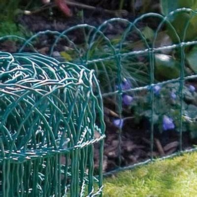 garden border fence green pvc coated