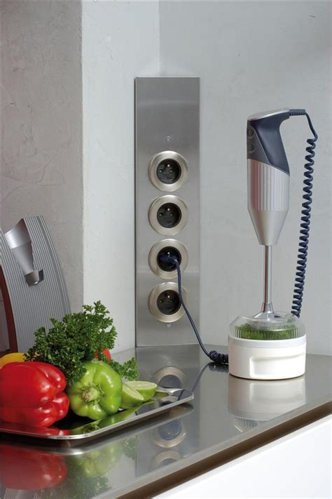prise de cuisine bloc esquina 2 prises électriques et