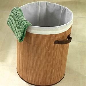 Panier à Linge Bambou : panier linge bambou panier linge et corbeille ~ Dailycaller-alerts.com Idées de Décoration