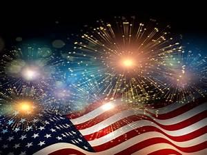 American Flag Fireworks Independence Day Celebrations 4