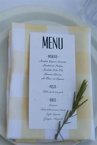 Menu at our italian themed party Now That's Italian