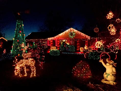house decorated with lights picture free