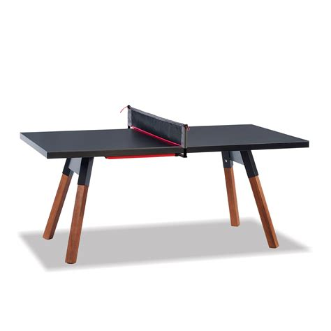 compact ping pong table small outdoor ping pong table in black thos baker