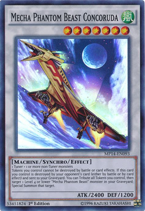 mecha blade phantom no2 card trivia mecha phantom beast concoruda yu gi oh