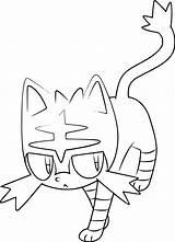 Litten Pokemon Coloring Sheets Rowlet Printable Sheet Rowlett Template Larger Credit sketch template