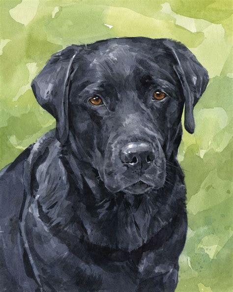 custom lab labrador retriever portrait  watercolor