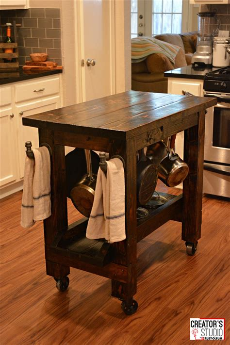 how to make a kitchen island cart makeover your kitchen chairs with new stops rust satin 9479