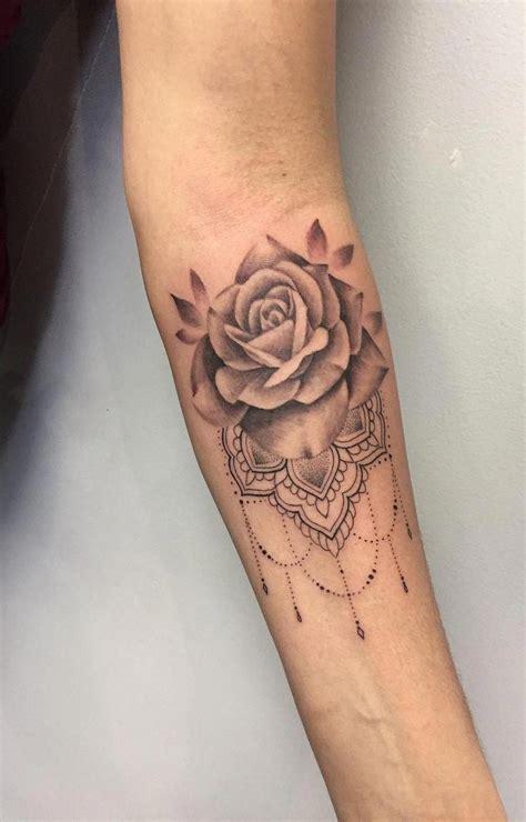 awesome rose mandala tattoo  tattoo artist nikki ouimette