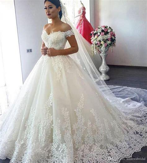 Ball Gown Wedding Dresses 2018 Sweetheart Short Sleeve