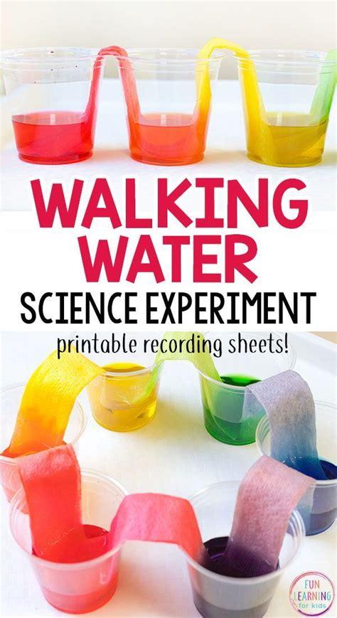 rainbow walking water science experiment  kids farm