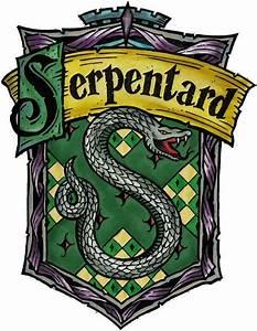 Crête de la maison Serpentard et devise, Harry Potter