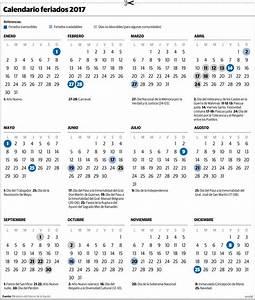 El calendario 2017, con el nuevo esquema de feriados ...