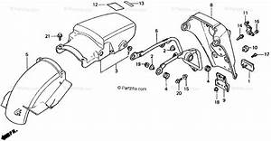 Honda Motorcycle 1989 Oem Parts Diagram For Rear Fender