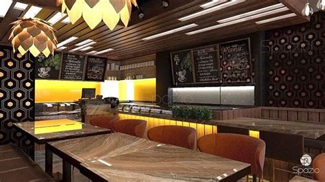 cafe restaurant interior design  dubai spazio