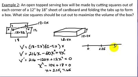 Calculus Optimization Word Problems Worksheet - Oaklandeffect