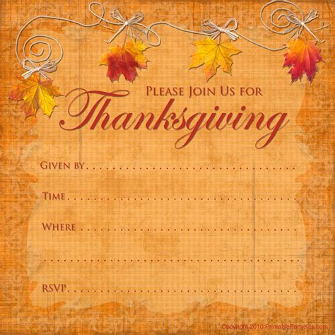 Free Thanksgiving Templates by Free Printable Invitations Printable Thanksgiving