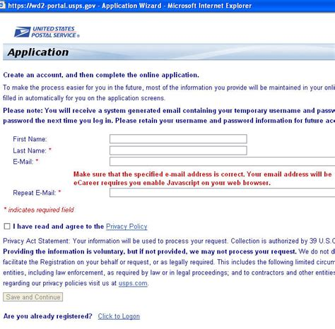 application post it bureau 473 postal post office usps federal
