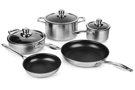 swiss diamond prestige clad stainless steel nonstick cookware set  piece cutlery