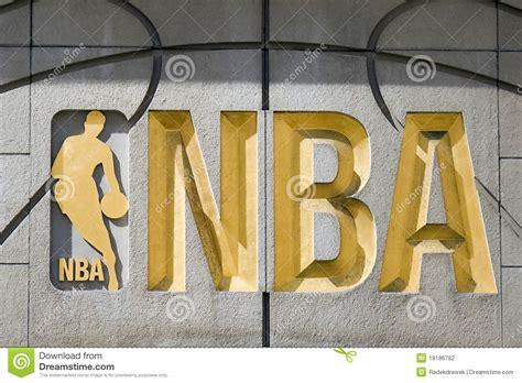 nba sign editorial photography image