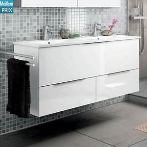hydra cambrian meuble salle de bain 120 cm option armoire With porte de douche coulissante avec meuble salle de bain 120 cm double vasque ceramique