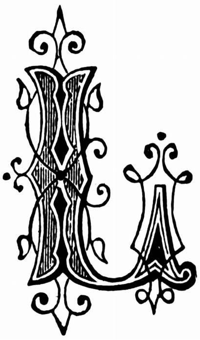Letter Clipart Fancy Letters Ornamental Lettering Clip