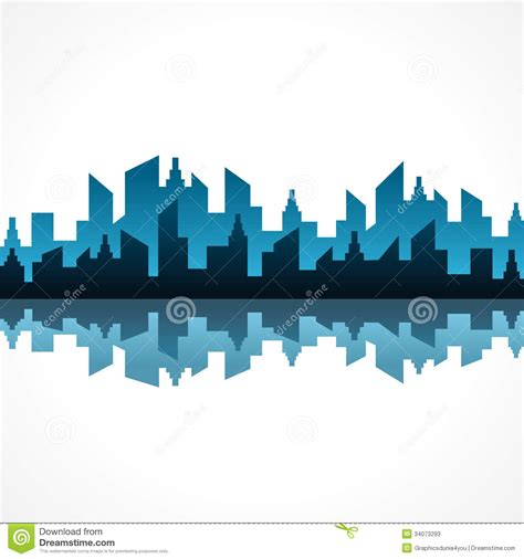 Abstract Blue Real Estate Background Design Stock Photos