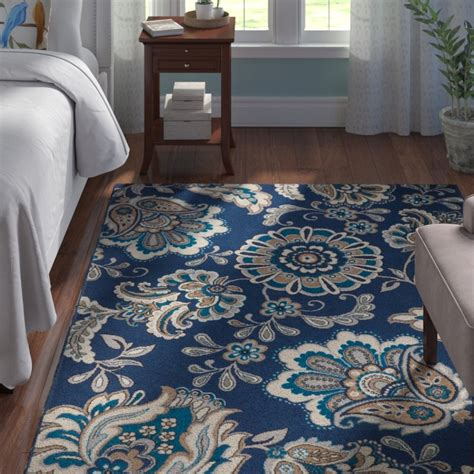 andover mills tremont blue area rug reviews wayfair