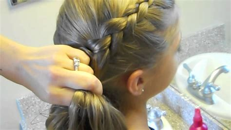 Same Side Dutch Braid Medium Hairstyles Cute Girls