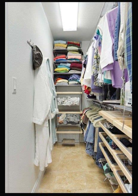 Small Narrow Closet Organization Ideas by Narrow Walk In Closet Idea Walk In Closet