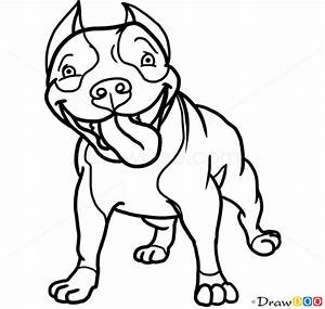 Drawn pit bull graffiti - Pencil and in color drawn pit ...