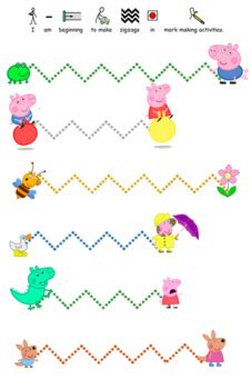 peppa pig pre writing pencil control activity worksheet tpt