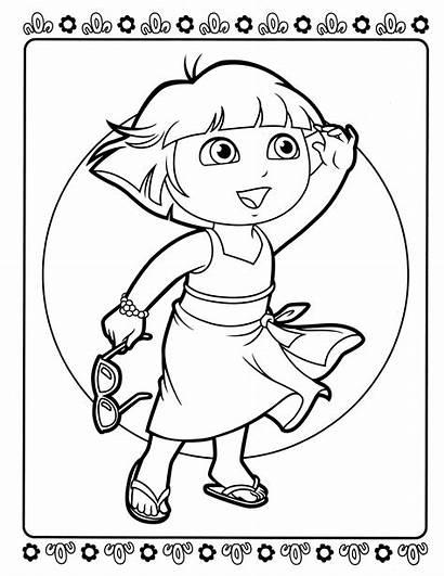 Dora Coloring Pages Diego Books Spongebob Coloringcolor