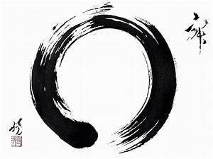 Denken Aan Zijn  Enso  Symbool Van Zen