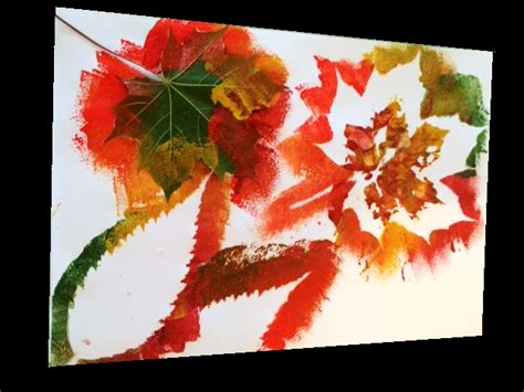 autumn leaf painting craft ideas for