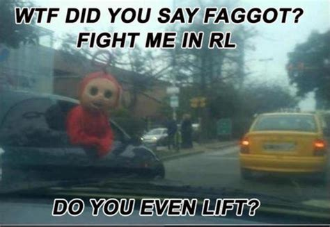 Fight Me Meme Teletubbies Fight Lift Fight Me Irl Your Meme