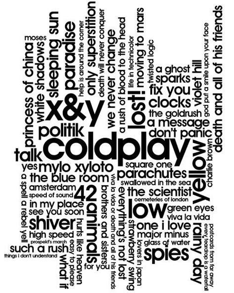 How to play a guitar. Discografía de un Coldplayer... Coldplay   Letras de canciones
