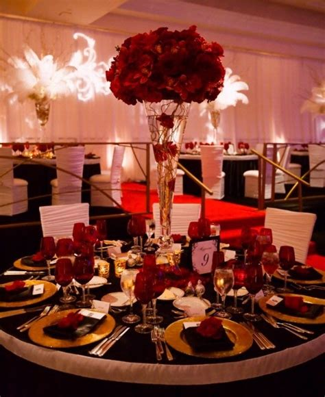 red and black table ls red wedding decoration ideas match your overall theme