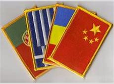 Country Flag Patches Shield