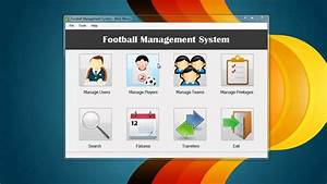 Football Management System - Software Project