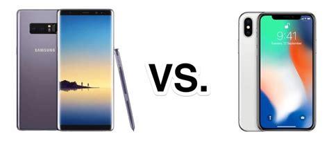spec comparison iphone x vs galaxy s8 vs galaxy note 8
