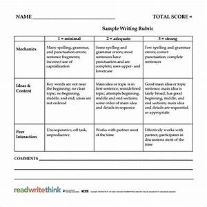 30 images of elementary rubric template infovianet With elementary rubric template