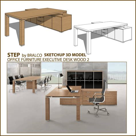 sketchup  model office furniture vray sketchup tut