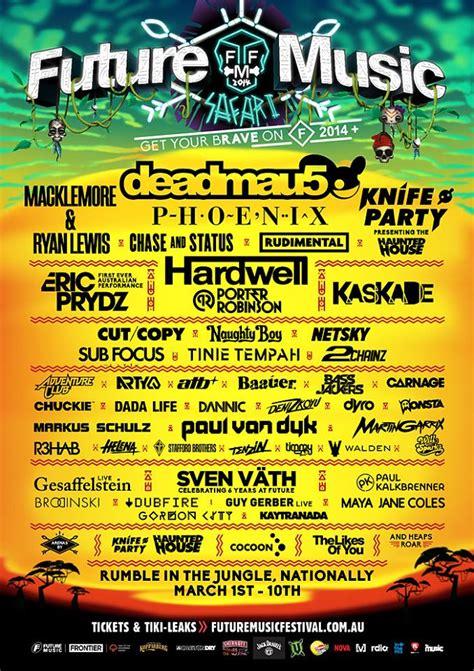 Melbourne Line Up by Future Festival Lineup Announcement 2014