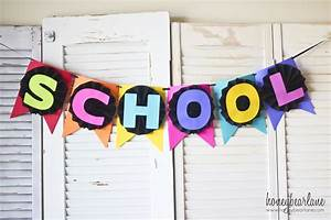 Back to School Banner with Astrobrights Paper - Honeybear Lane
