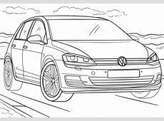 Ausmalbild Volkswagen Golf Ausmalbilder kostenlos zum