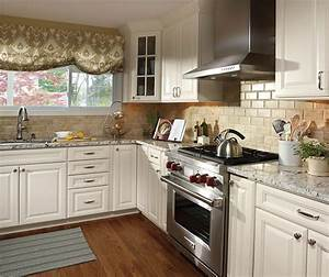ivory cabinets in traditional kitchen aristokraft With what kind of paint to use on kitchen cabinets for location stickers