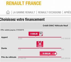 Diac Credit : diac financement renault rci banque cr dit voiture en ligne ~ Gottalentnigeria.com Avis de Voitures