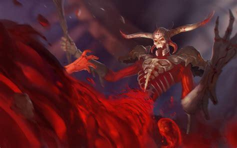 hd smite demon blood hell fire wallpaper