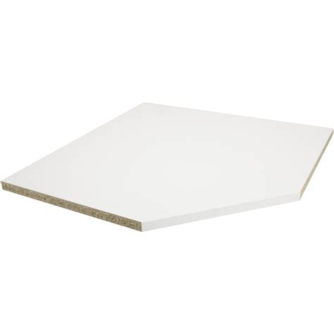 plan de travail angle cuisine plan de travail d 39 angle stratifié blanc mat 105 x 105 cm